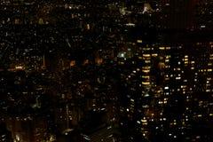 东京看法在从东京大城市政府大厦的晚上 图库摄影