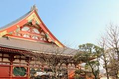 东京著名老sensoji寺庙 库存照片
