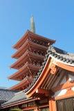 东京著名sensoji寺庙 图库摄影