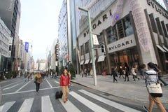 东京街道视图在日本 免版税库存图片
