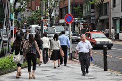 东京街道 库存照片