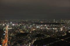 东京都市风景夜视图  库存图片