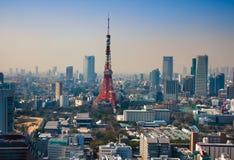 东京铁塔在Minato病区里 库存图片