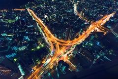 东京高速公路连接点从上面 免版税图库摄影