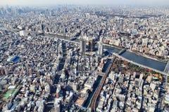 东京鸟瞰图 库存图片