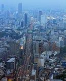 东京鸟瞰图  库存照片