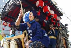 东京,八王子市- 8月10 :每年夏天节日 Hyottoko展示在八王子市, 2005年8月10日的东京 库存照片