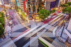 东京,日本在银座区 库存图片
