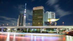 东京,日本地平线夜 免版税库存图片