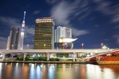 东京,日本地平线夜 库存图片