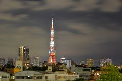 东京,日本夜场面  免版税库存图片