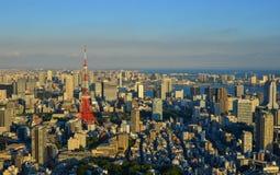东京,日本都市风景  免版税库存照片