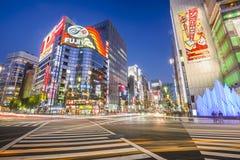 东京,日本银座都市风景 库存图片