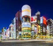 东京,日本银座都市风景 免版税库存图片
