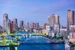 东京,日本隅田川 库存图片