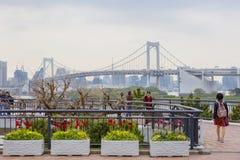 东京,日本, Odaiba海岛 彩虹桥 免版税库存图片
