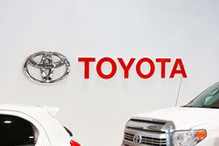 东京,日本- 2017年7月10日:丰田商标 免版税库存照片