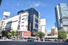 东京,日本- 2016年9月5日:在涩谷横穿的步行者步行 横穿 免版税库存图片