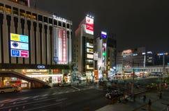 东京,日本- 2016年11月19日:步行者拥挤横穿 免版税图库摄影