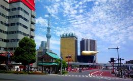 东京,日本- 2016年5月, 29日:观光的东京,浅草历史的区 免版税图库摄影