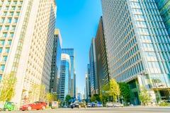 东京,日本- 2015年11月28日:东京市街道输入 免版税库存照片