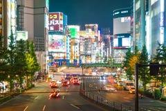 东京,日本- 2016年11月18日:东京新宿是其中一个东京的Bu 免版税图库摄影