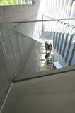 东京,日本- 2013年11月23日:人参观21_21设计视域博物馆在东京 库存照片