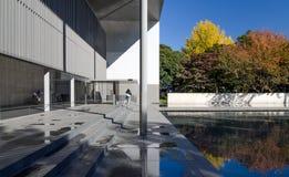 东京,日本- 2013年11月22日:人们参观Horyuji珍宝画廊  库存图片