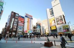 东京,日本- 2013年11月26日:商人在新桥 图库摄影