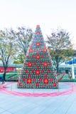 东京,日本- 2016年11月18日:在六本木H的圣诞树 免版税库存照片