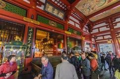 东京,日本- 2016年11月19日:在参议员里面主要大厅  免版税库存图片