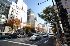 东京,日本- 2013年11月26日:购物在银座地区的人们 图库摄影