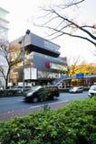 东京,日本- 2013年11月24日:购物在Omotesando街上的游人在东京 免版税库存照片