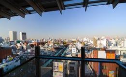东京,日本- 2013年11月21日:Senso籍寺庙鸟瞰图  库存照片