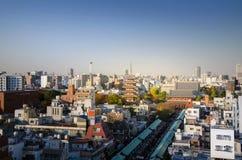 东京,日本- 2013年11月21日:Senso籍寺庙鸟瞰图  免版税图库摄影