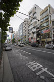 东京,日本- 2016年5月30日:Steert在Toky新宿区  免版税库存照片