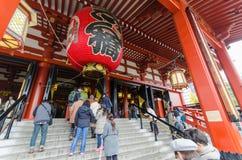 东京,日本- 2016 11月18, Senso籍寺庙在浅草, 库存图片