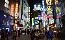 东京,日本- 11月28 :涩谷是公认的青年时尚 图库摄影