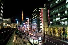 东京,日本- 11月15 :35百万人民,东京是 免版税库存图片