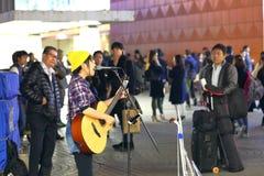 东京:街道执行者 免版税图库摄影