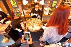 东京:Tsukiji海鲜鱼市 免版税库存照片