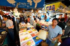东京:Tsukiji海鲜鱼市 库存照片