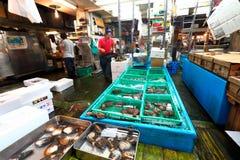 东京:Tsukiji海鲜鱼市 免版税库存图片