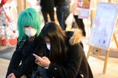 东京-大约11月24日:Cosplay outf的女孩 库存照片