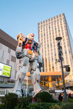 东京2015年11月28日:在潜水者市政府部门st的Gundum机器人 免版税库存图片