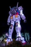 东京2015年11月28日:在潜水者市政府部门st的Gundum机器人 免版税库存照片
