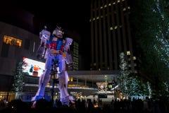 东京2015年11月28日:在潜水者市政府部门st的Gundum机器人 图库摄影