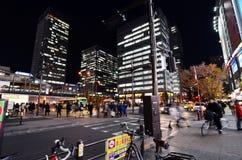 东京- 11月21 :人参观秋叶原11月的商店地区 免版税图库摄影
