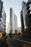 东京- 11月23 :在代代木驻地附近的摩天大楼 库存照片