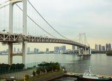 东京 Odaiba海岛 彩虹桥 库存图片